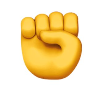 the raised fist emoji