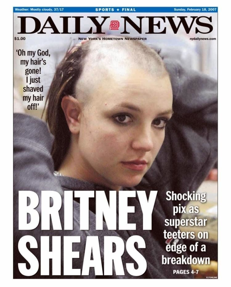 10 Years Britney Spears' Head-shaving Moment