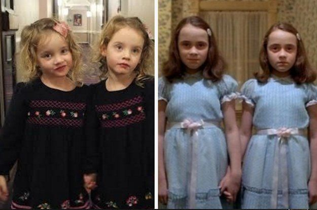 Hilarious Dad Taught Twin Daughters Scare People In