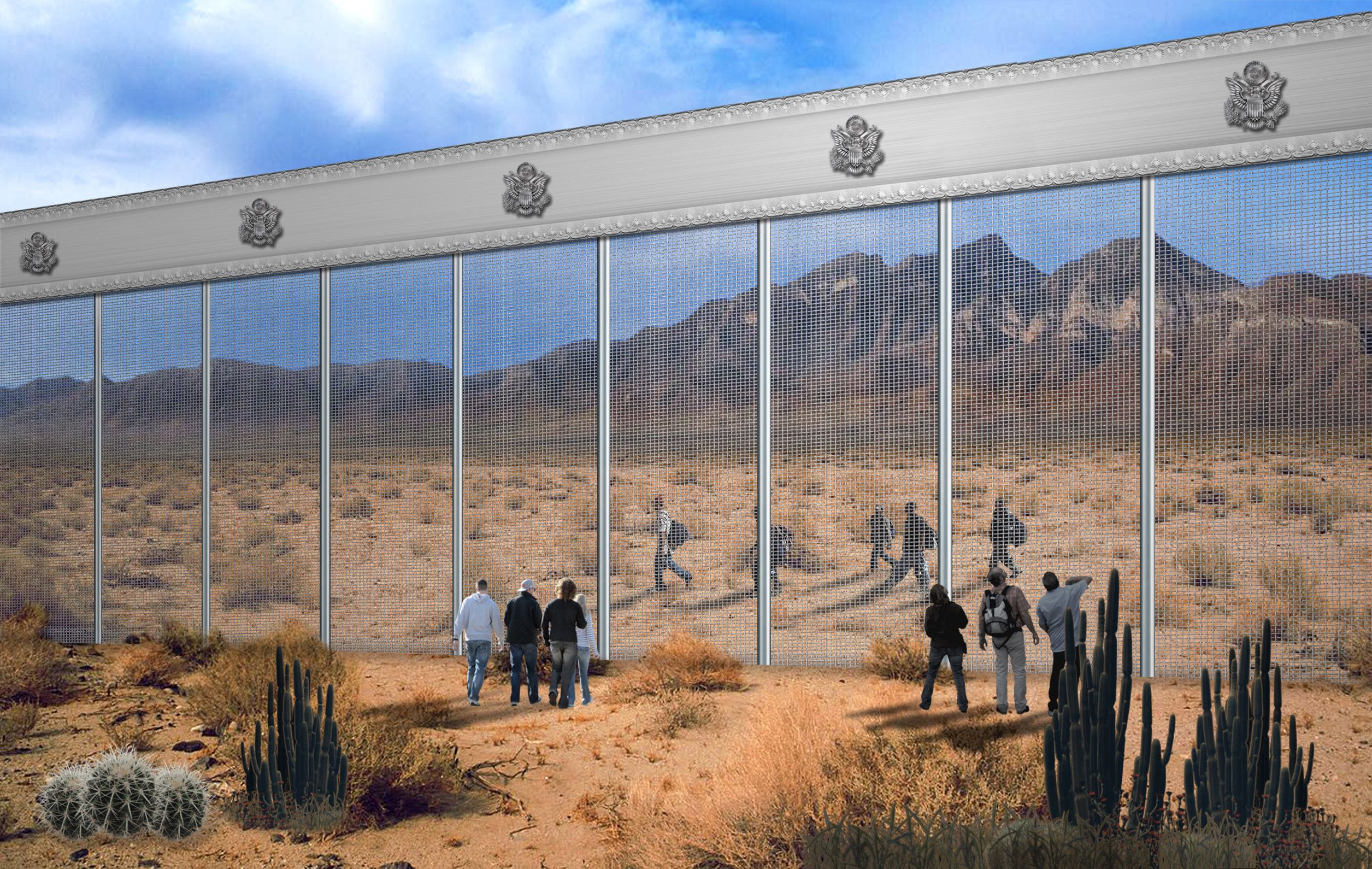 The Unlikely Design Proposal For Trump's Border Wall From