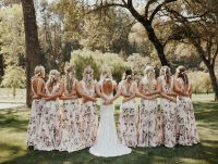 Floral Bridesmaid Dresses Are The Wedding Trend That Will ...