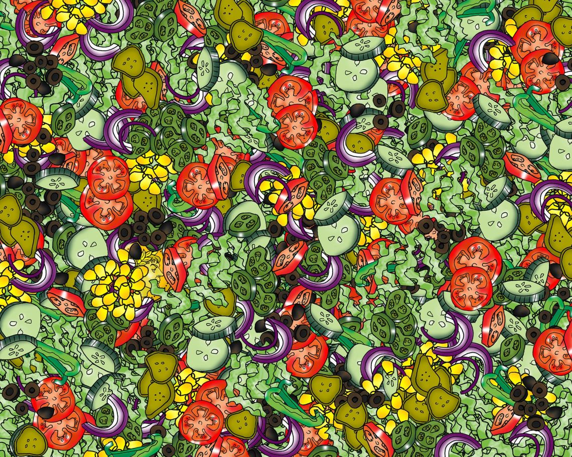 Can You Spot The Caesar In The Salad? The Latest Puzzle To Boggle Your Mind