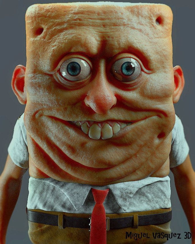 Scary Spongebob : scary, spongebob, Artist, Sculpts, SpongeBob, Human,, Creating, Stuff, Nightmares, HuffPost, Australia