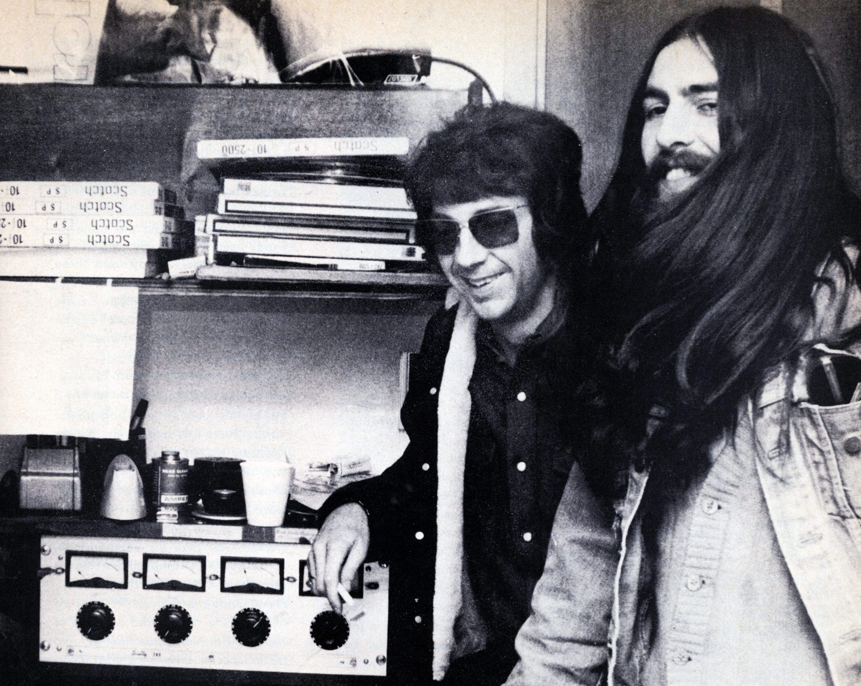 Spector and George Harrison in the 1970s.