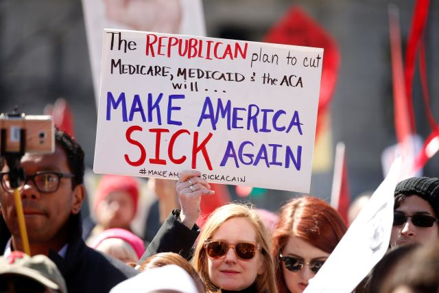 protesting trump for obamacare