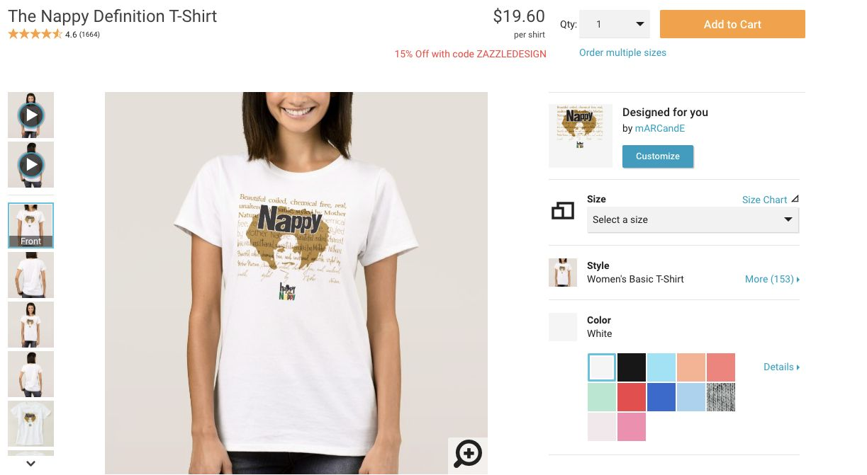 Zazzle also on white models are being used to sell  shirts that say rh huffingtonpost