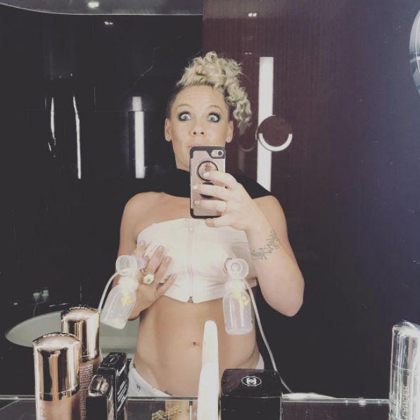 Pink Pumps Breast Milk In Hilarious #PumpUpTheJams Selfie Pink Pumps Breast Milk In Hilarious #PumpUpTheJams Selfie 5995ac8f14000020002c33c7