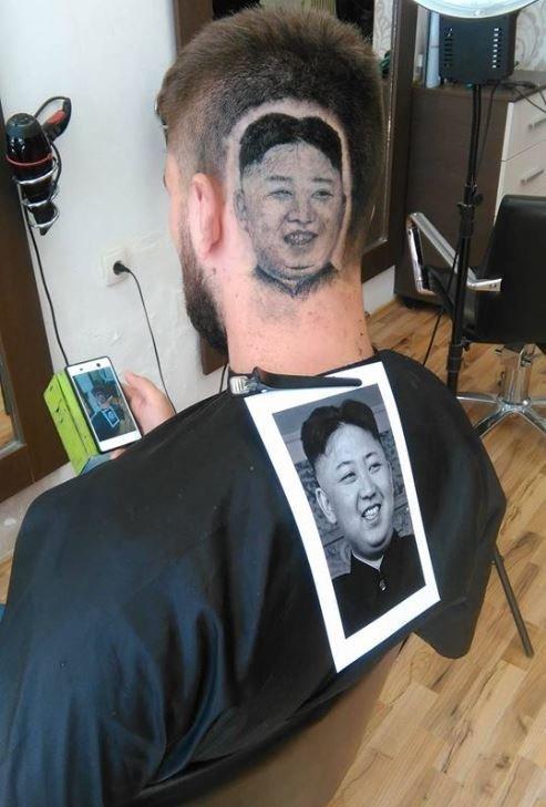 Serbian Barber Shaves Kim Jong Uns Portrait On Customers