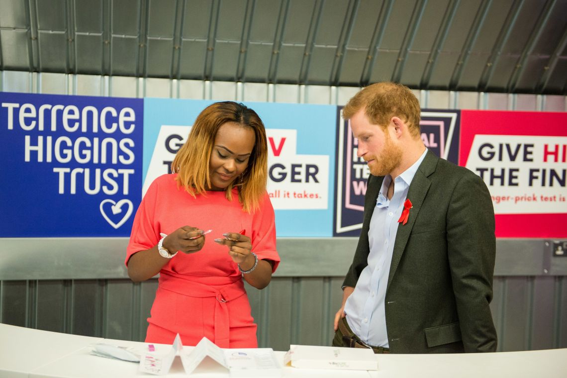 Prince Harry Hands Out HIV Self Test Kits Ahead Of National HIV Testing Week