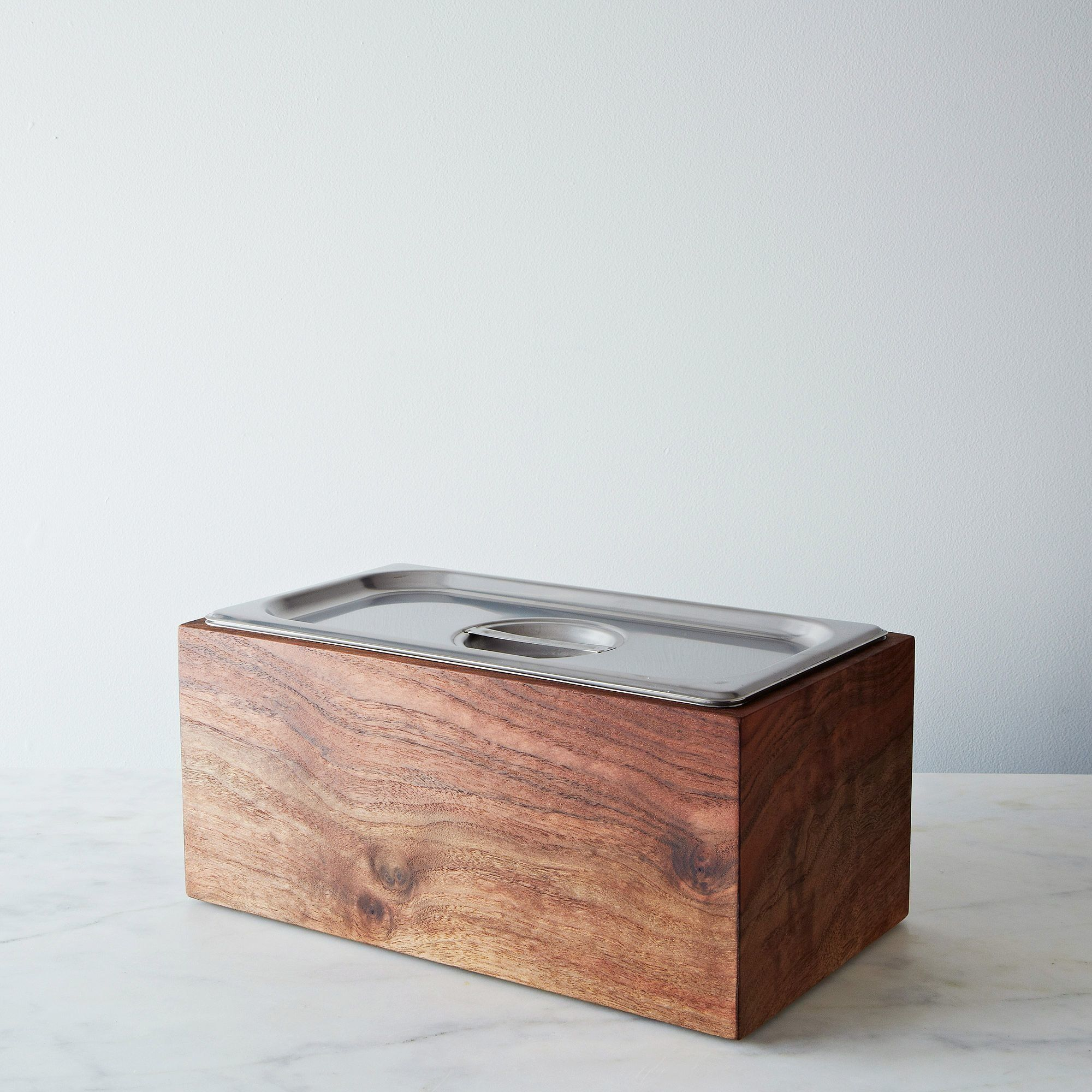 kitchen compost container order cabinets online 14 stylish bins that ll look right at home in your noaway countertop walnut bin