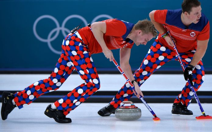 The Norwegian Curling Team Should Win Gold For Their Pants The Norwegian Curling Team Should Win Gold For Their Pants 5a86f24b1e00002c007abe6f