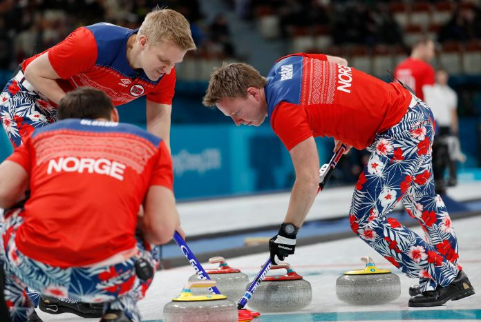 The Norwegian Curling Team Should Win Gold For Their Pants The Norwegian Curling Team Should Win Gold For Their Pants 5a86f2a02000003800eaf140