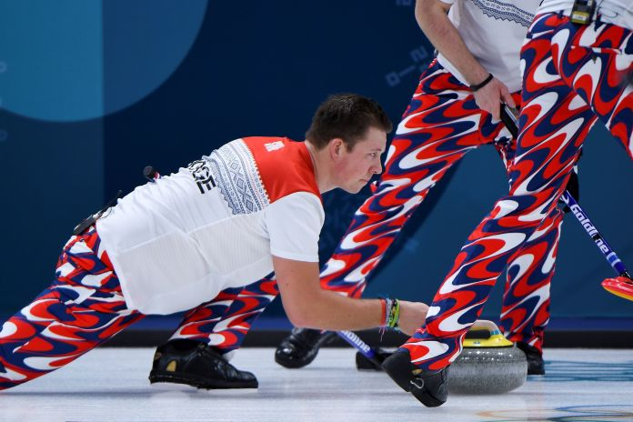 The Norwegian Curling Team Should Win Gold For Their Pants The Norwegian Curling Team Should Win Gold For Their Pants 5a8c40782000002d00eaf6a2