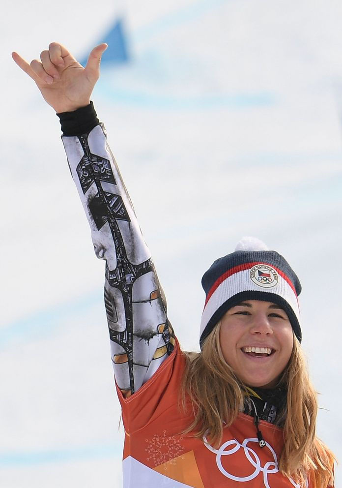 Ester Ledecka Makes Olympic History With Snowboard Gold Ester Ledecka Makes Olympic History With Snowboard Gold 5a911ac31e000008087acaf4