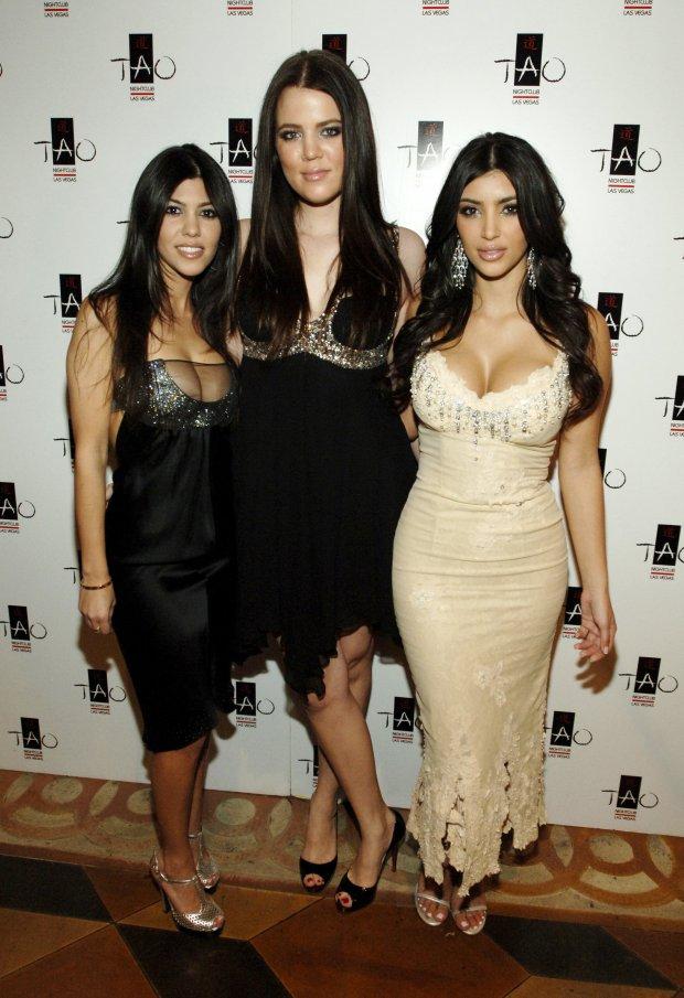 With sisters Kourtney and Kim at TaoLas Vegas.