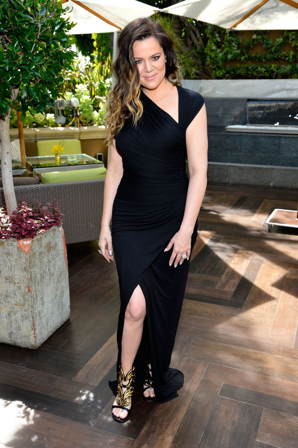 At DuJour magazine's spring issue collaboration with Kim Kardashian and Bruce Weber at the Four Seasons Hotel Los Angeles.