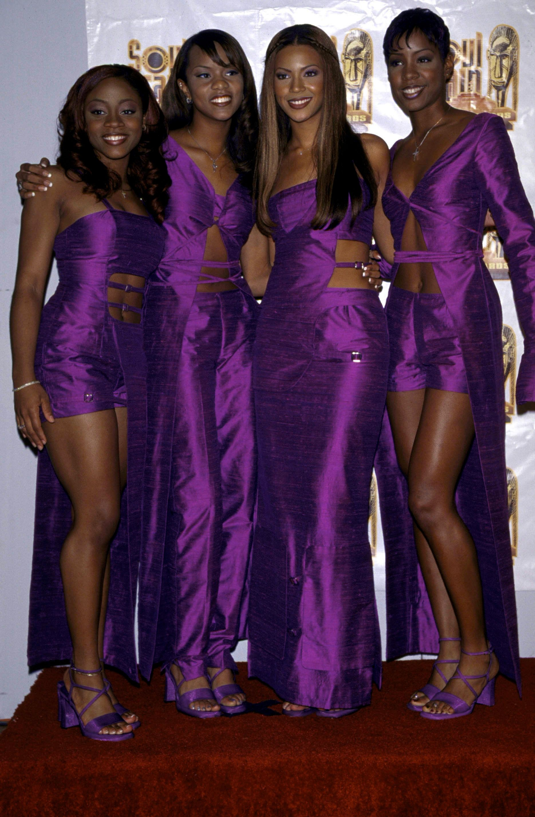 Roberston, Luckett, Knowles and Rowland at the 13th annual Soul Train Music Awards in California.