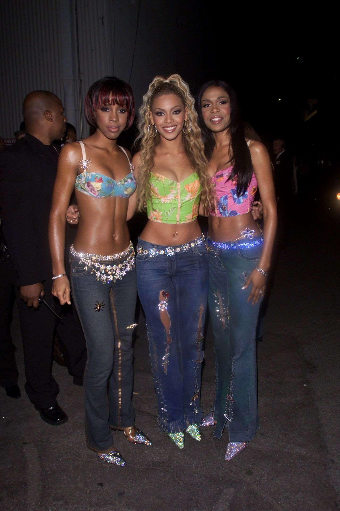 "Rowland, Knowles and Williams at the ""MTV Icon: Janet Jackson"" show taping in Los Angeles."