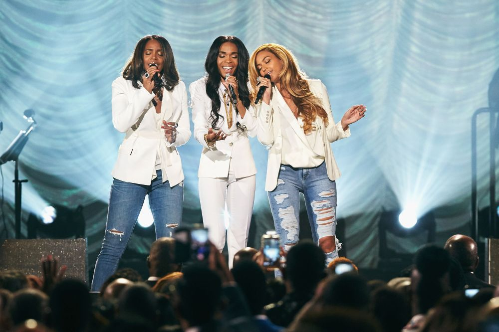 "Performing ""Say Yes"" during the 30th Annual Stellar Awards at the Orleans Arena in Las Vegas."