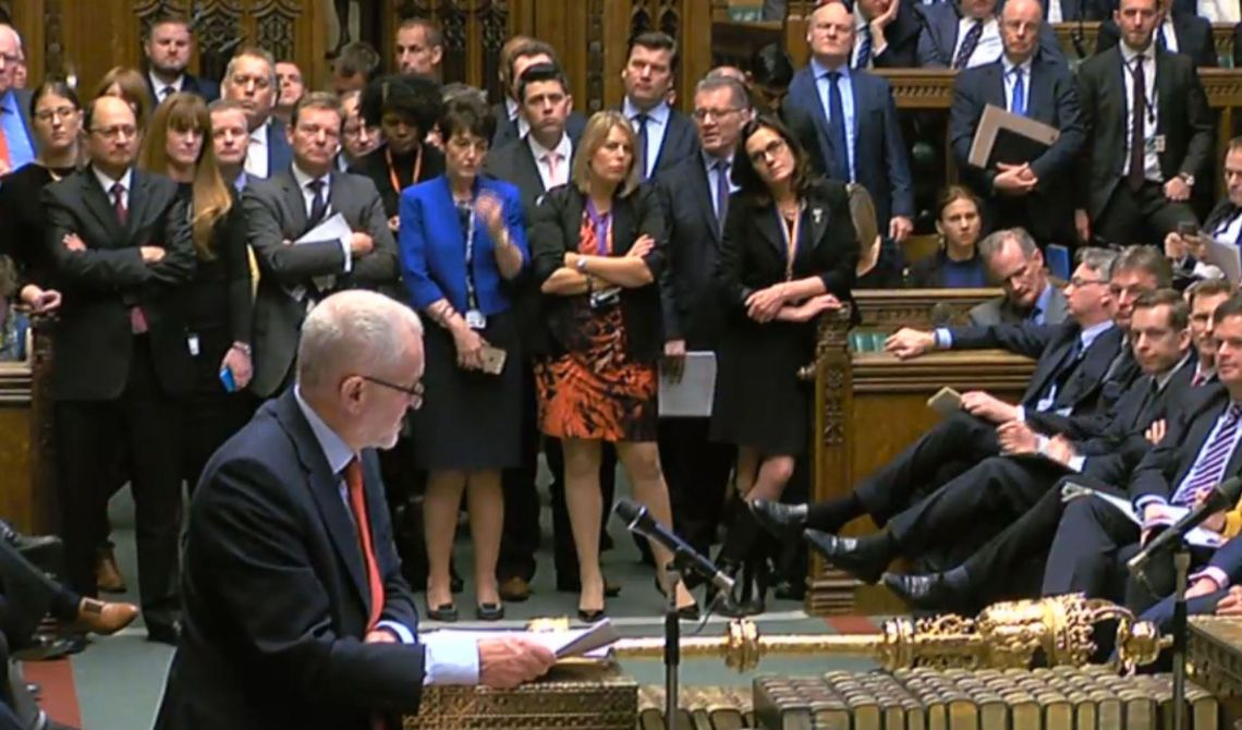 Jeremy Corbyn in the Commons