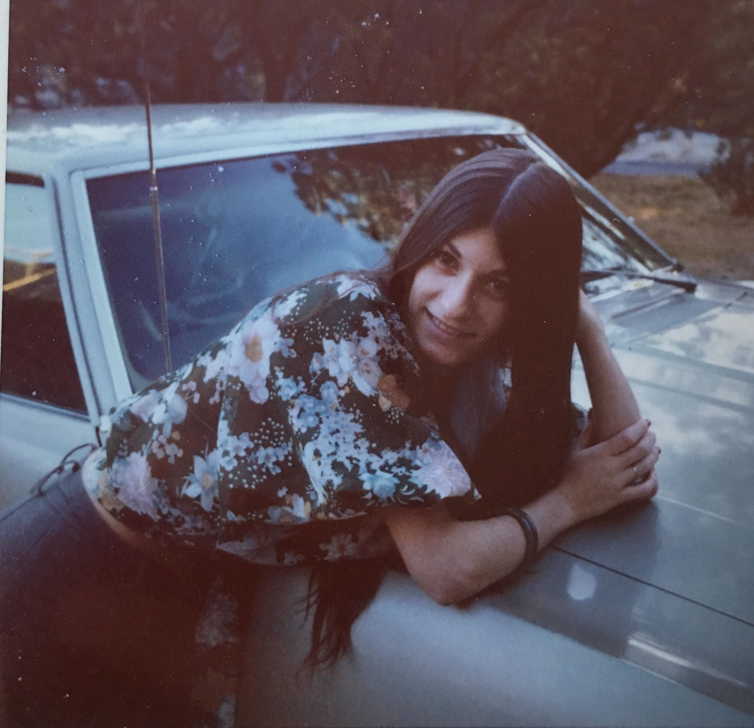 """""""This picture of my mom, Maureen Wilson, was taken around 1974 or '75 by one of her parents. My momma would have been a"""