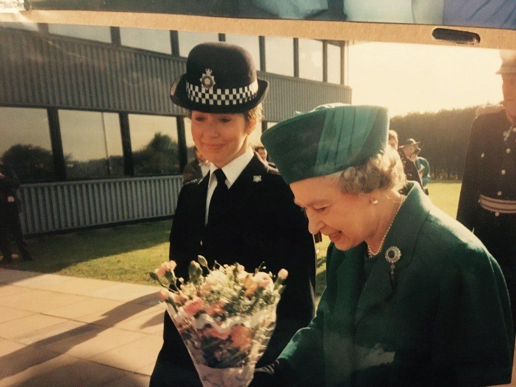 """""""My amazing mum, Ricia, escorting Queen Elizabeth! The photo was taken in Northampton in the late &rsquo;90s."""" --<i>&nbsp;Mag"""