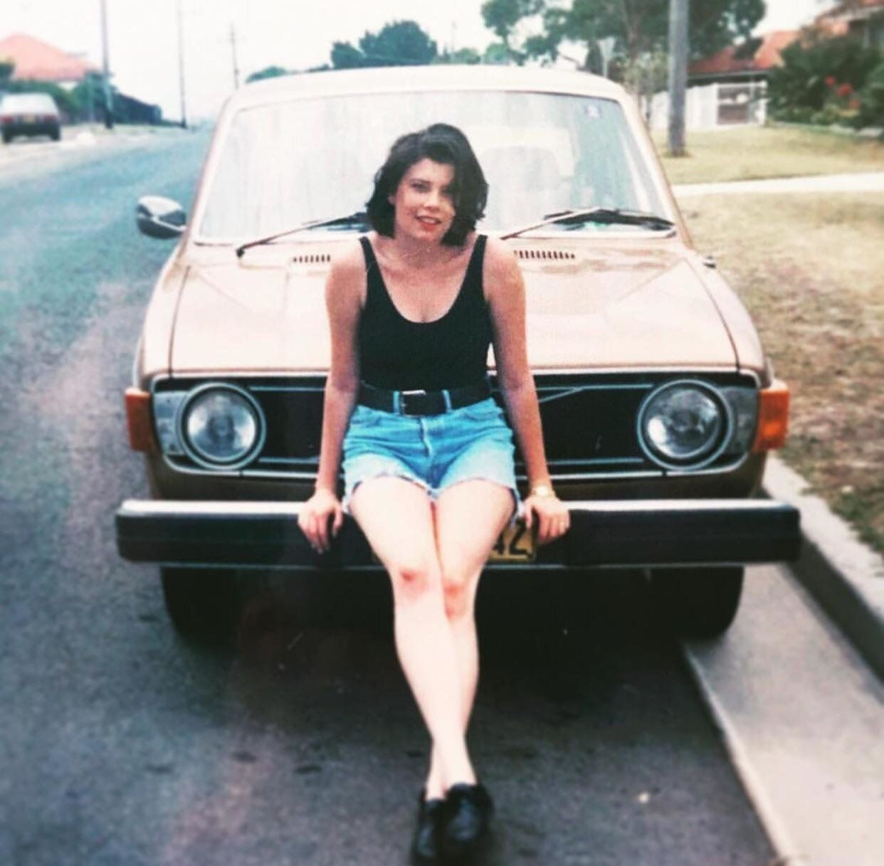 """""""My mother, Tiffany, and her Volvo in the summer of 1989."""" -- <i>Alexandra</i>"""