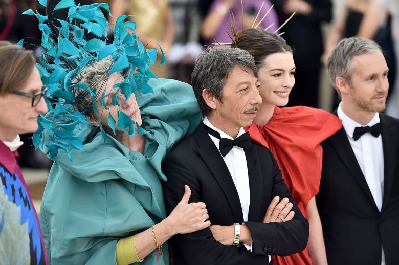 Hamish Bowles, Frances McDormand, Pierpaolo Piccioli, Anne Hathaway and Adam Shulman