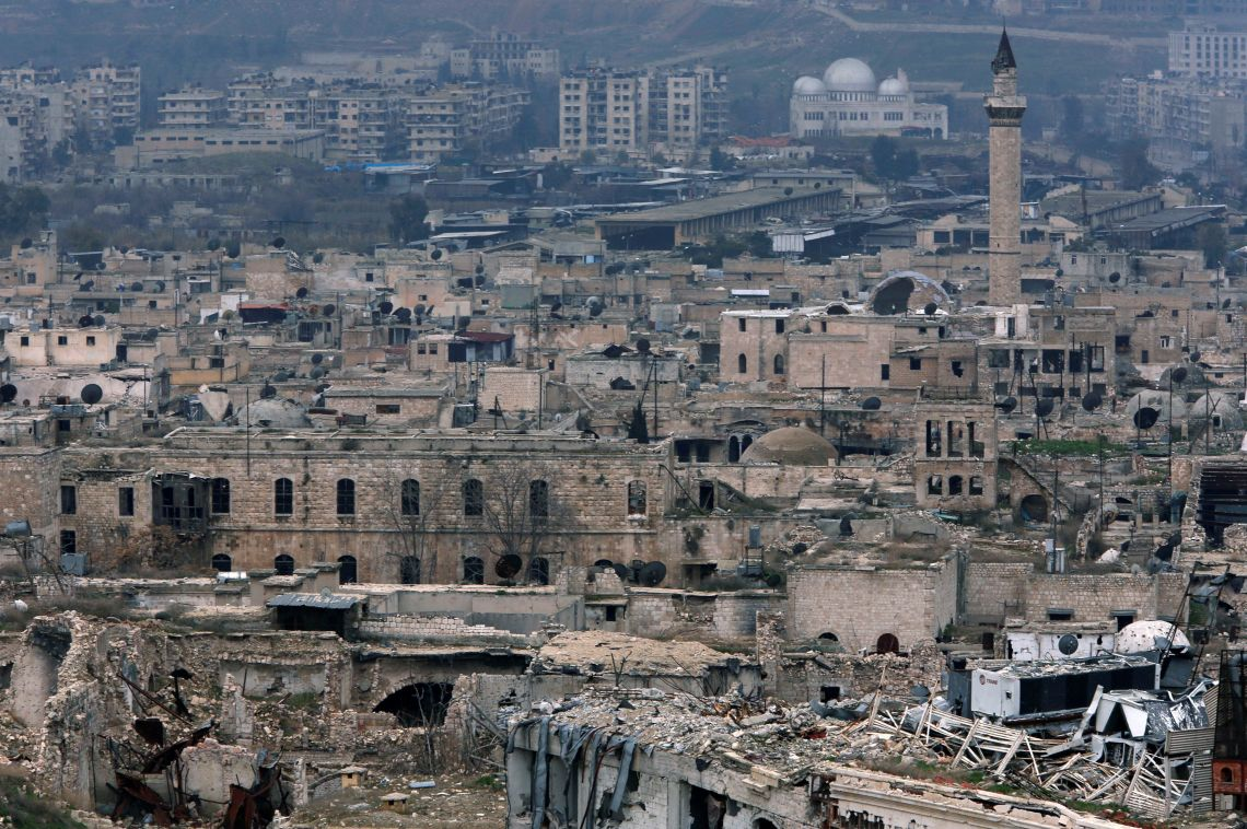 Much of Aleppo is now in ruins.