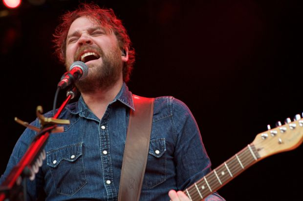 Scott Hutchison performs with the band Frightened Rabbit at The Greek Theatre in 2017.