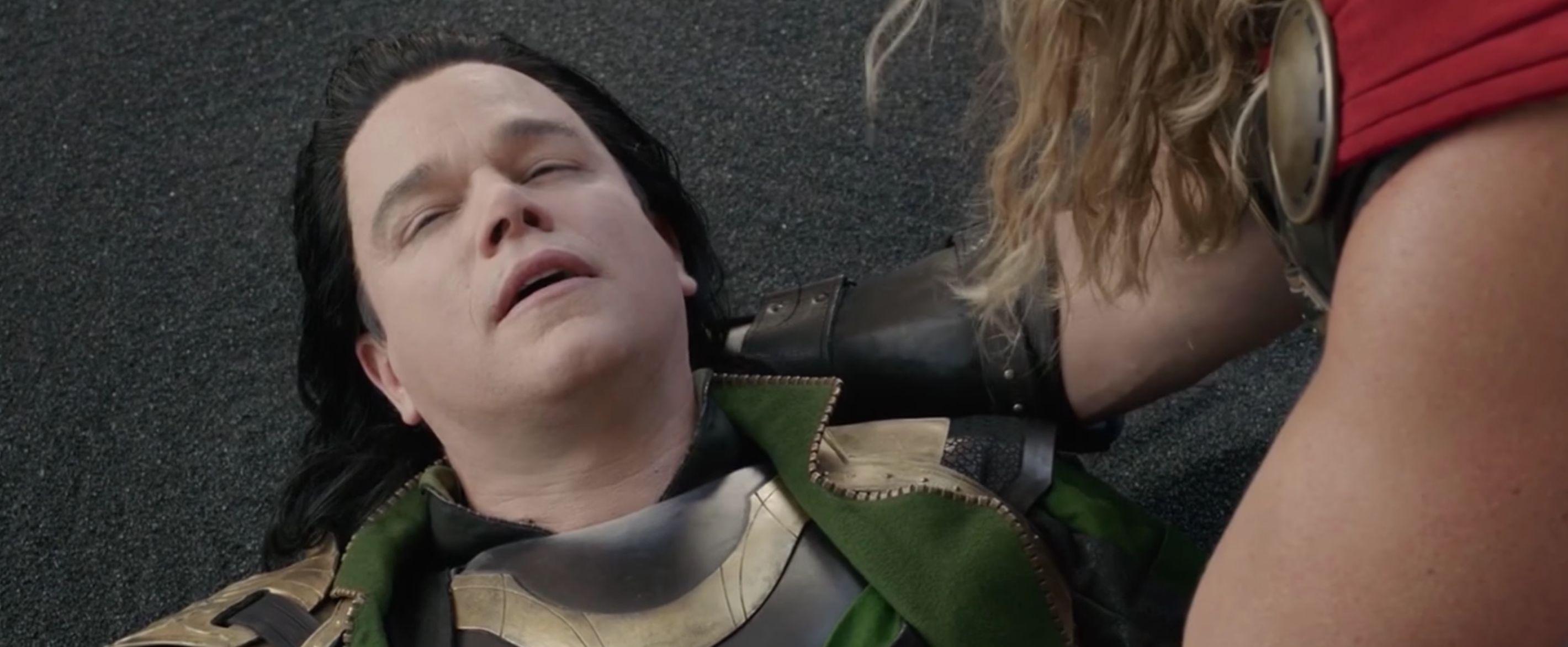 "Matt Damon as an actor playing Loki in ""Thor Ragnarok."""