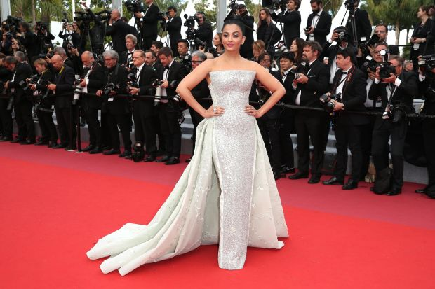 "Wearing Rami Kadi Couture at the screening of ""Sink Or Swim (Le Grand Bain)"" on May 13."