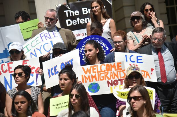 Advocates in New York City demand thatImmigration and Customs Enforcement be barred from arresting people in courthouse