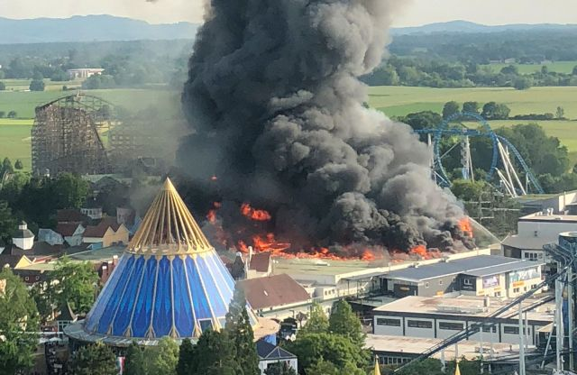 Horrific Videos Show Massive Fire At Europa Theme Park In Germany