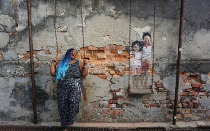 """""""I fell in lovewith all of the street art in Georgetown,"""" blogger Annette Richmond said ofMalaysia."""