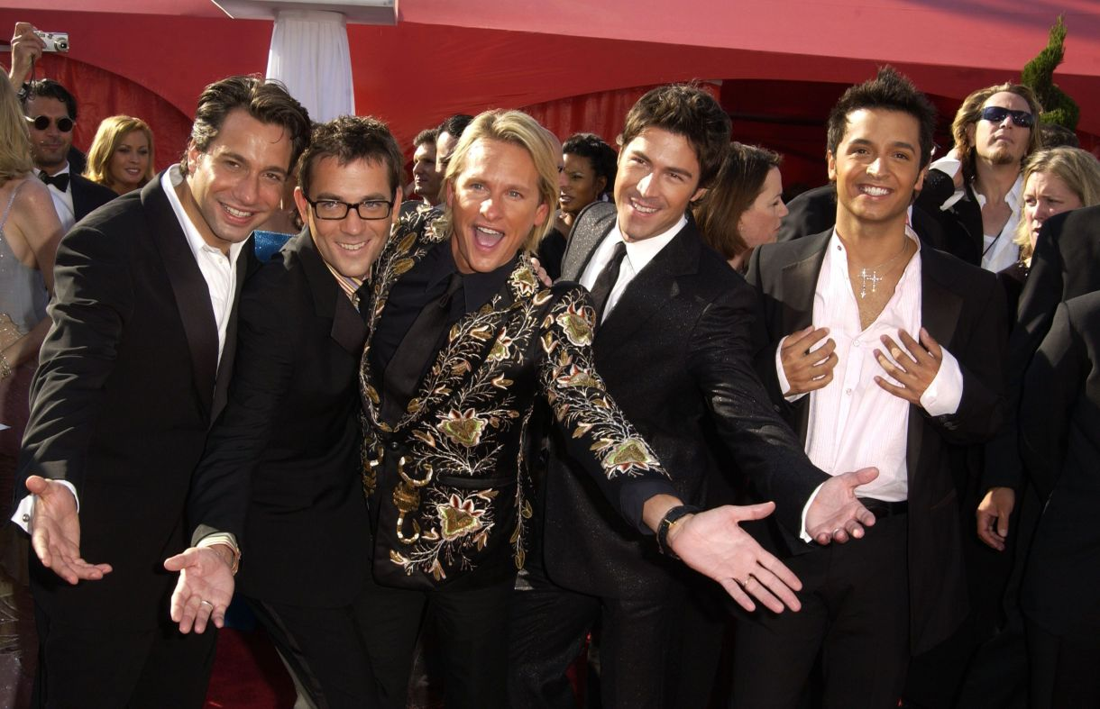 L'OG Fab Five arrive aux Emmy Awards 2003.
