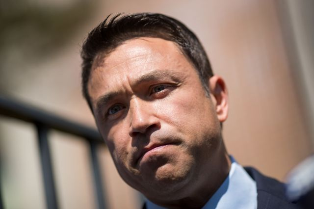 Michael Grimm (above) could notoust Dan Donovan, the congressman who replaced him in 2015.