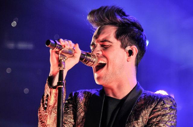 Brendon Urie of Panic! at the Disco performs at Oracle Arena in Oakland, California, in March 2017.