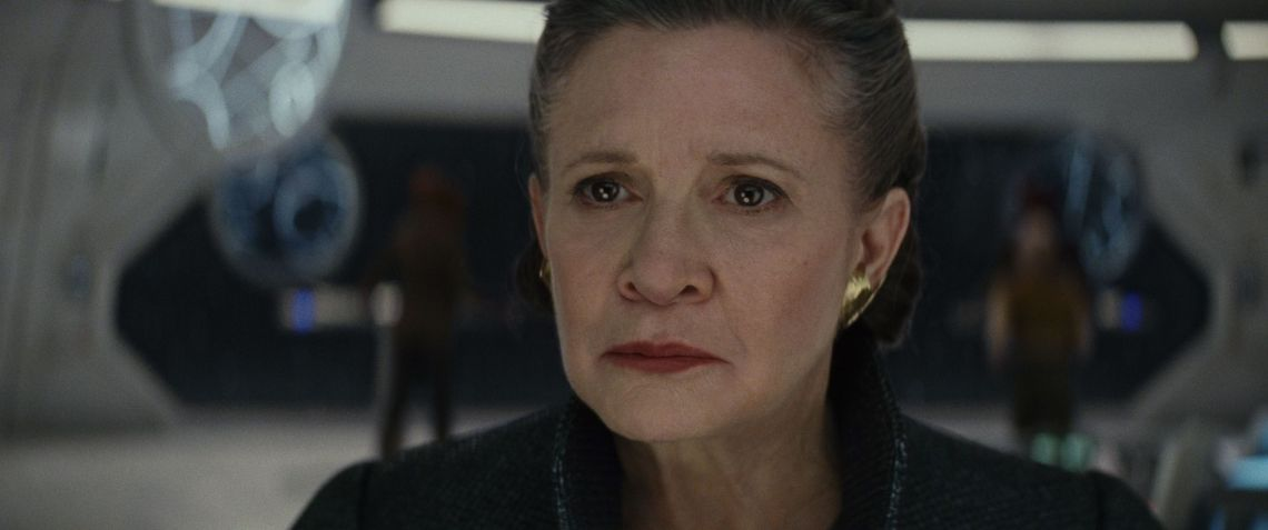 Carrie in 'The Last Jedi'