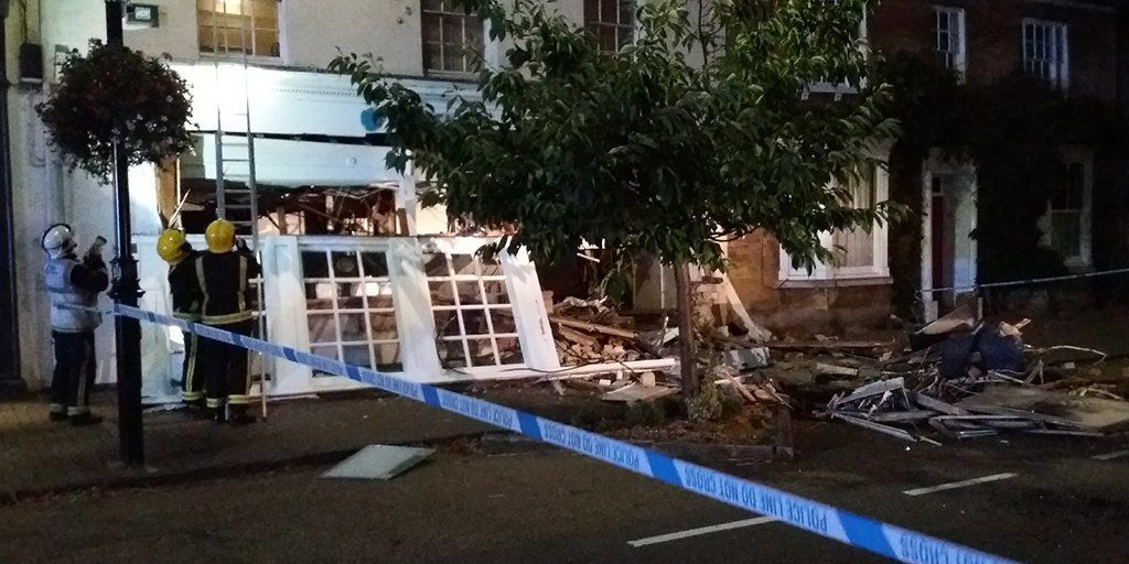 Barclays Bank in Olney, near Milton Keynes, was left devastated after Sunday's early morning raid.