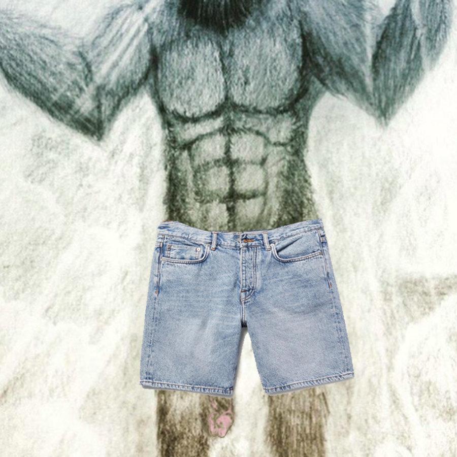 Bigfoot's never-nude penis.