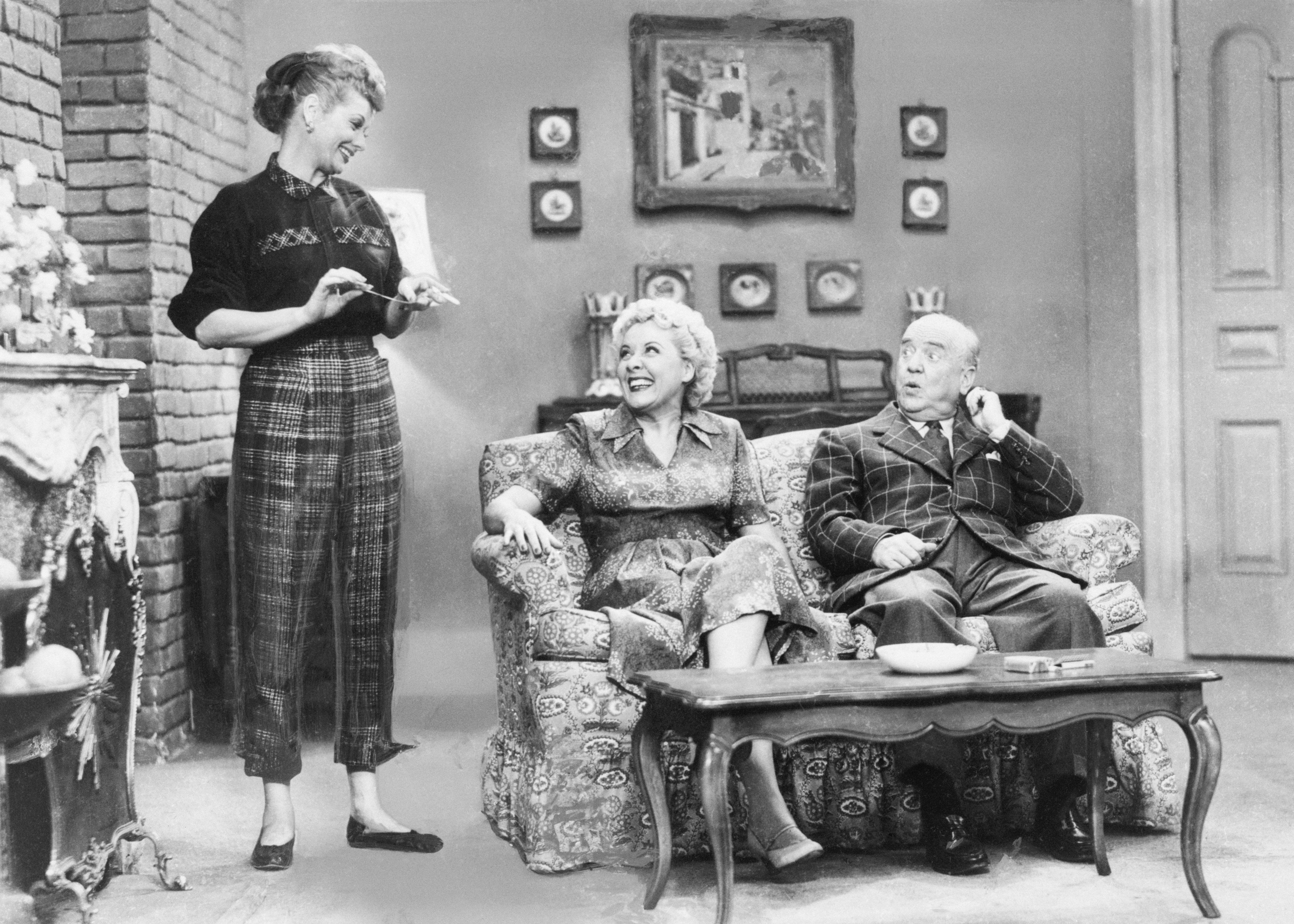 """Ball on the set of """"I Love Lucy,"""" which aired from 1951-1957."""
