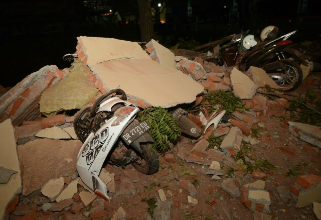 The temblor on Sunday in Indonesia collapsed thousands of buildings, causing extensive damage.