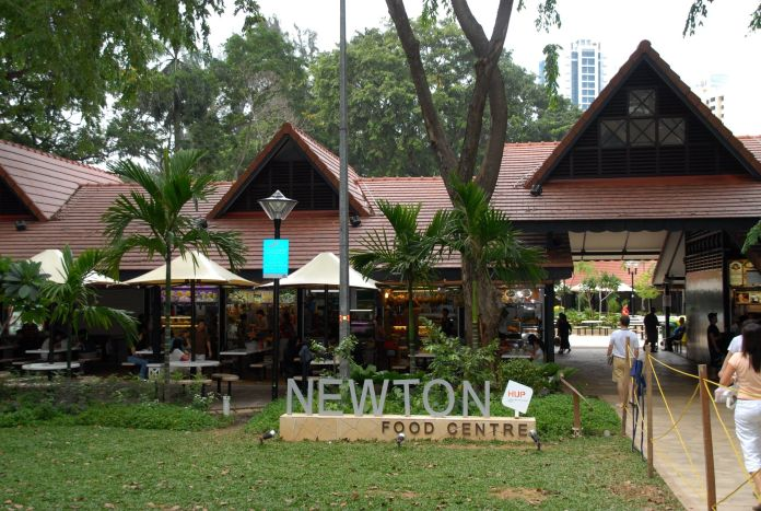 """Before the group settles on Lau Pa Sat, Nick mentions liking the satay at Newton Food Centre, but Colin insists Newton is """"on"""