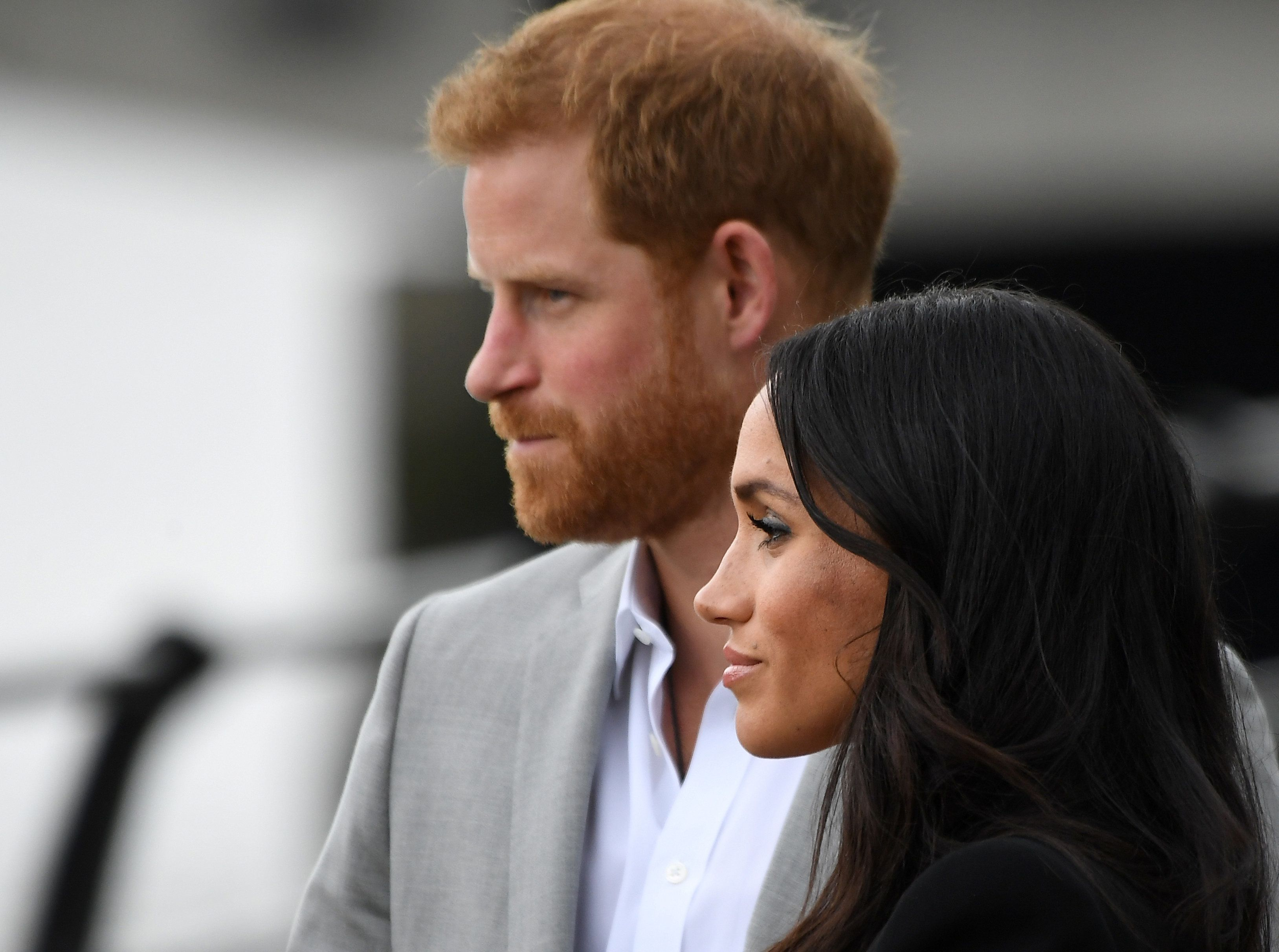 Prince Harry and Meghan, Duchess of Sussex, visit a memorial in Dublin, Ireland on July 11.