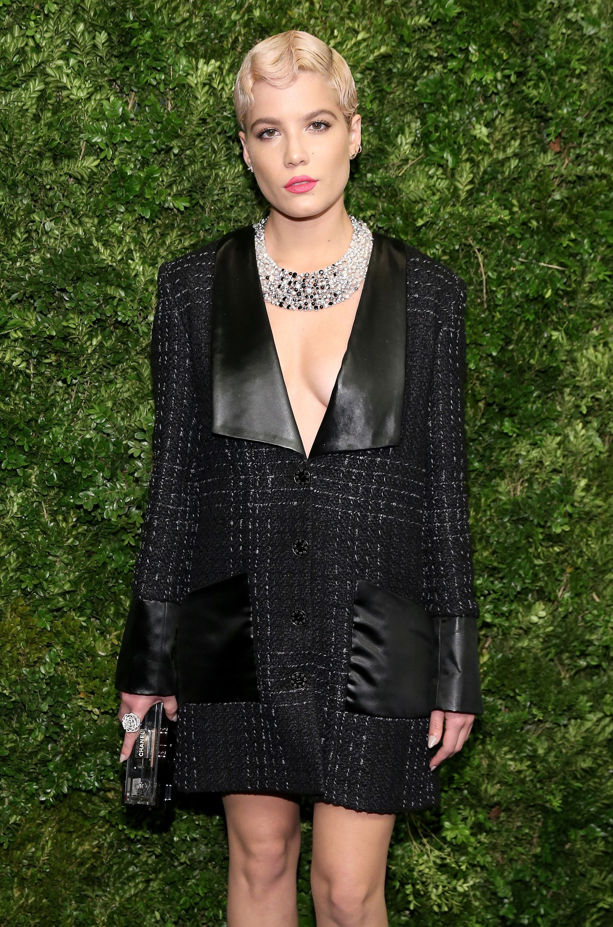 The star wearing a Chanel ensemble at a Museum of Modern Art film benefit honoring Cate Blanchett on Nov. 17 in New York City
