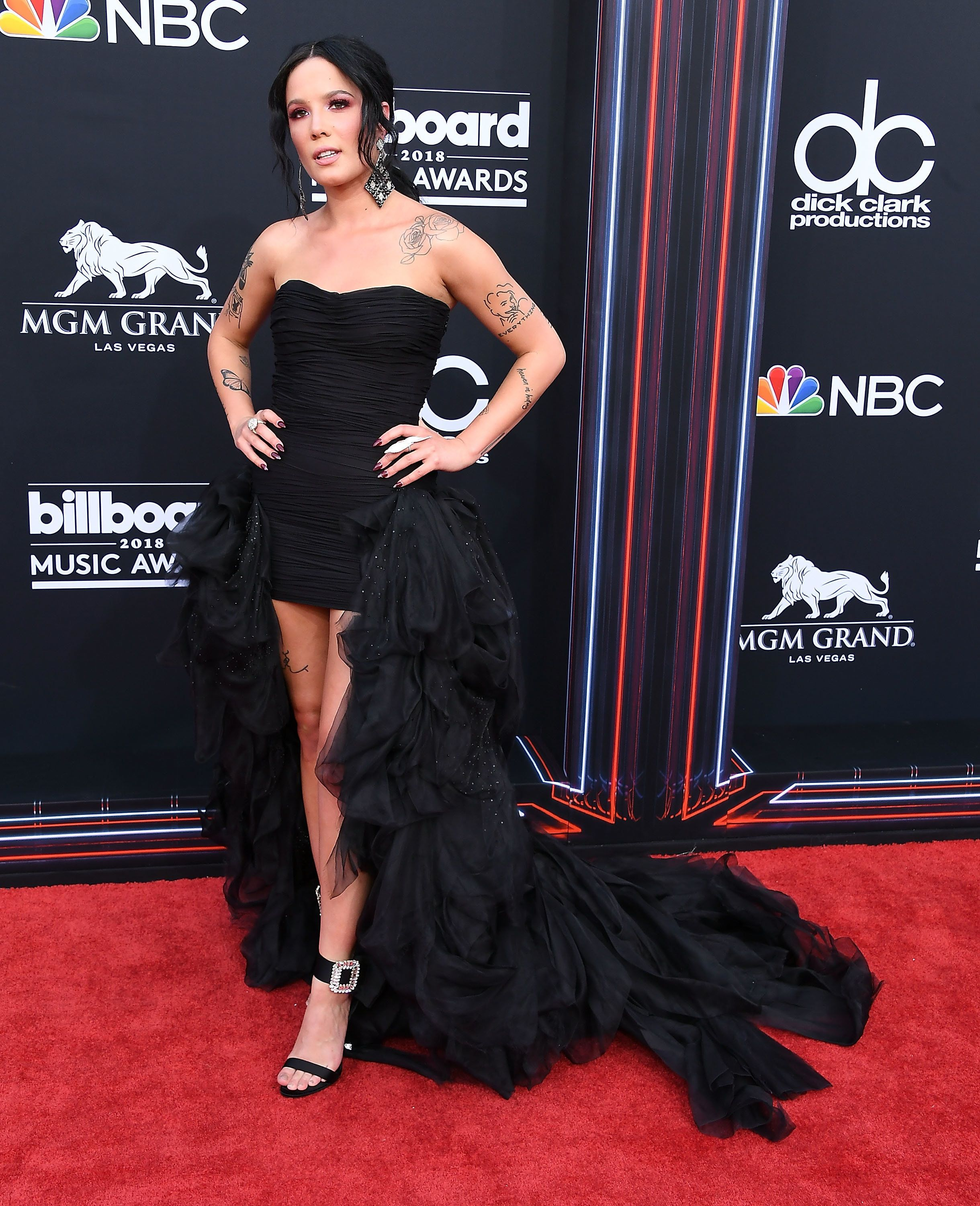 Wearing a gown by Redemption at the 2018 Billboard Music Awards on May 20, in Las Vegas.
