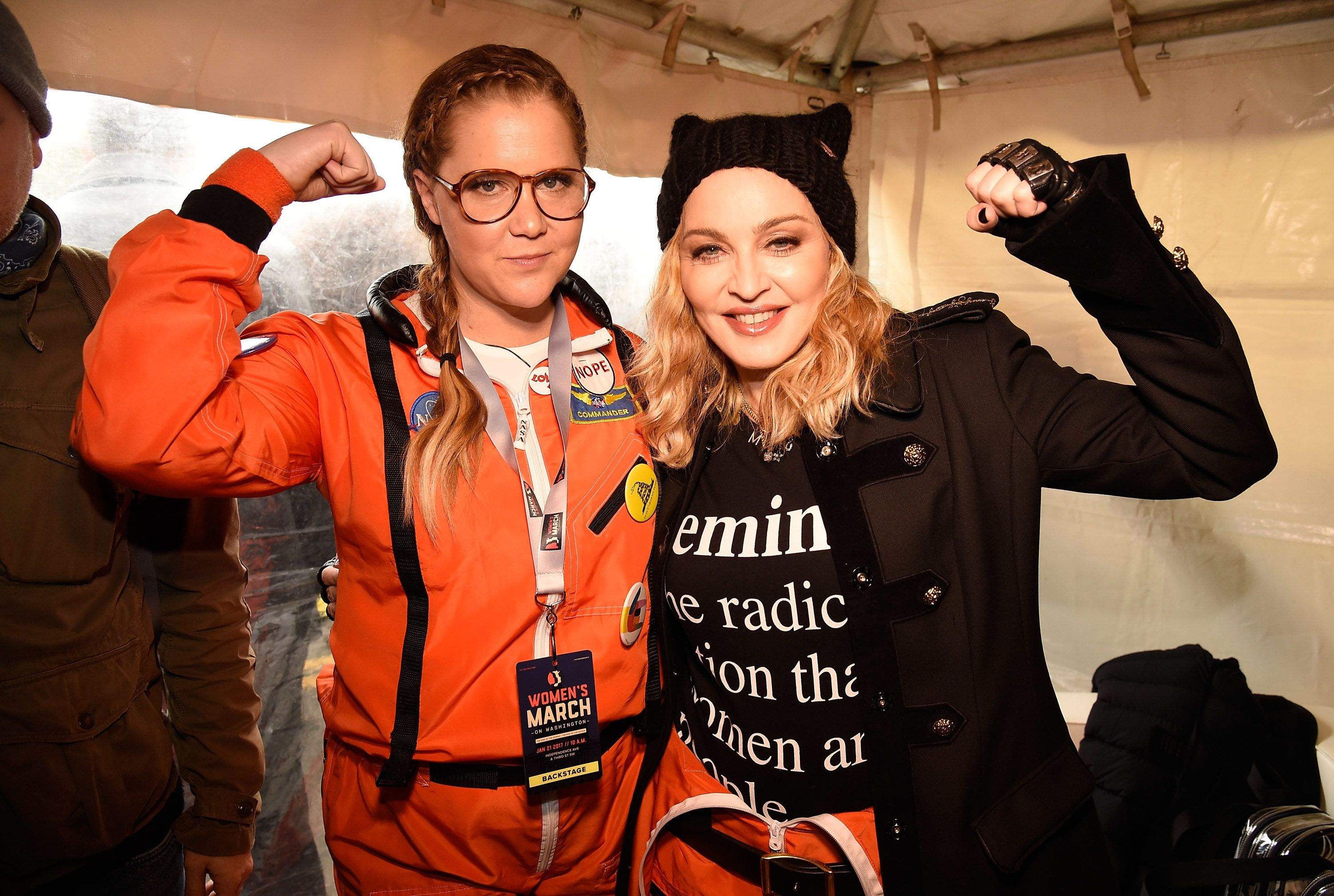 """In 2016, Madonna opened for pal <a href=""""https://www.huffingtonpost.com/topic/amy-schumer"""">Amy Schumer</a> during the comedia"""