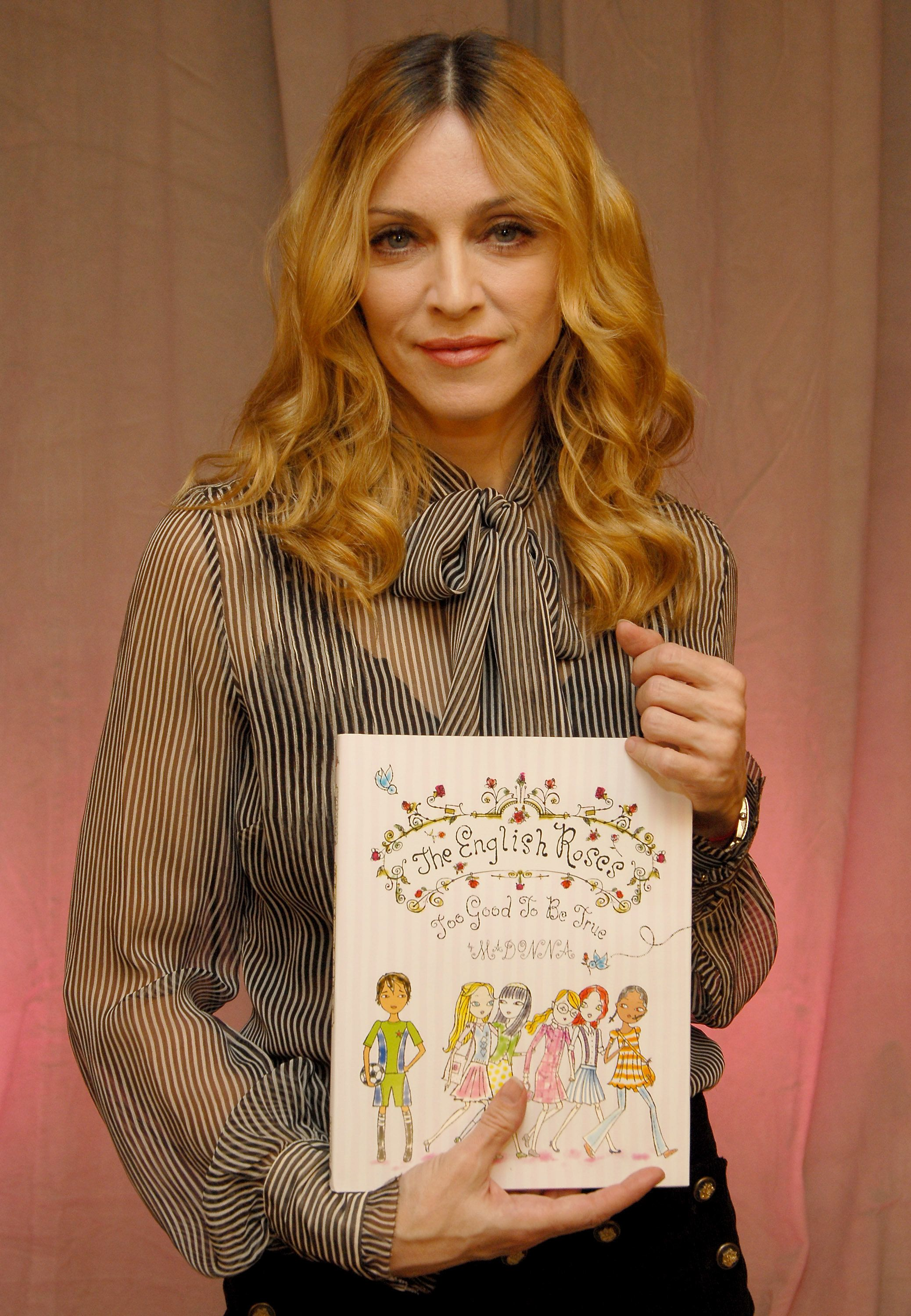 """Madonna&nbsp;released her first <a href=""""http://www.slate.com/articles/arts/books/2003/09/the_material_girl_gets_immaterial.h"""