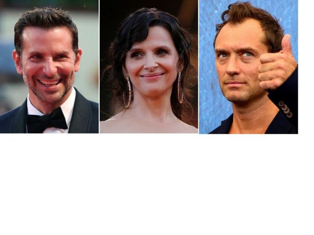 Actors Bradley Cooper (left), Juliette Binoche (center) and Jude Law (right) were among the signatories of the pointed open l